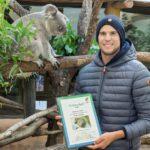 Dominic Thiem mit Koala-Männchen Wirri Wirri. Foto: © Daniel  Zupanc